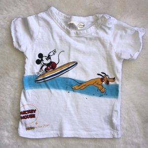 H&M Disney Mickey and Pluto shirt 6-9 months